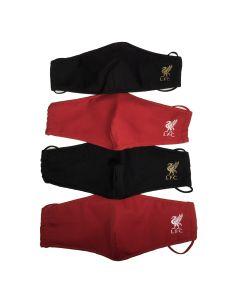 Munnbind 4-pack rød/sort - barn