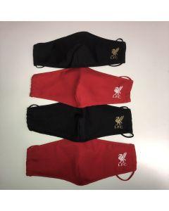 Munnbind rød/sort - 4-pack - voksen